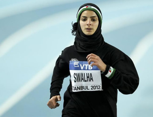 Woroud Swalha is a Palestinian competing in the 800m women's race in London 2012 Olympics. Woroud is one of 6 Palestinian atheletes to compete in the games. The rest can be viewed here.