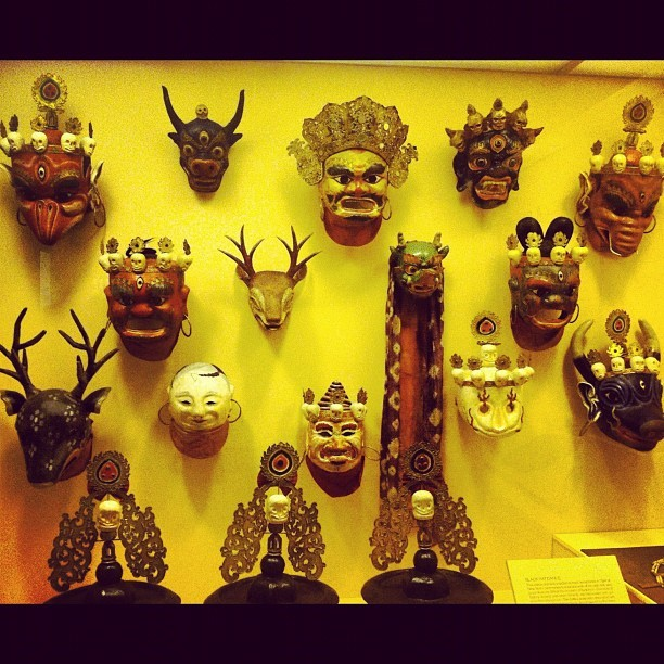 Masks (Taken with Instagram at American Museum of Natural History)