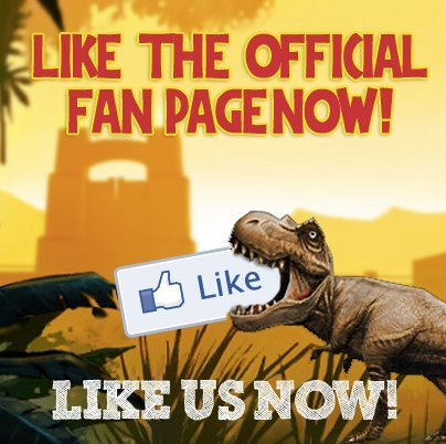 LIKE the official Jurassic Park Builder facebook page and you'll be the first to know when it's available to play!