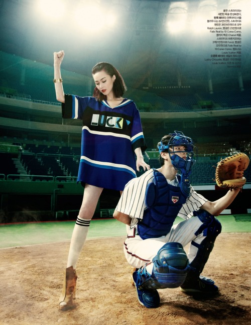 stormtrooperfashion:  Publication: Harper's Bazaar KoreaIssue: July 2012Title: Sweet SluggerModels: Hye Jung Lee and So Young KangPhotography: Choi Yong BinStyling: Mirim Lee