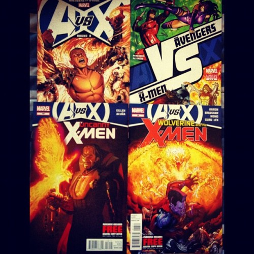#ReturnToTheComicBookStore #Part2 #AvX #Avengers vs. #XMen #UncannyXMen #Wolverine & the XMen  #Marvel #Comics #NewComicsDay  (Taken with Instagram)