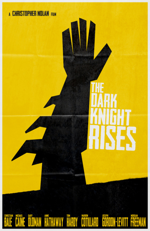 The Dark Knight Rises Minimalist Poster by Travis English