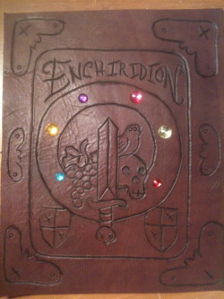 adventuretimefan:  'My newest piece of leather work: The Enchiridion.' Thanks cocomotion3 for the submission.