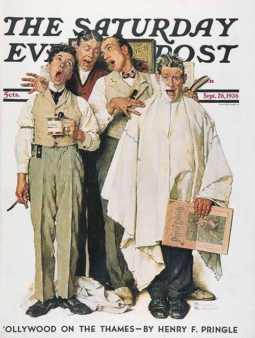 """The Barbershop Quartet"", by Norman Rockwell, 1936"