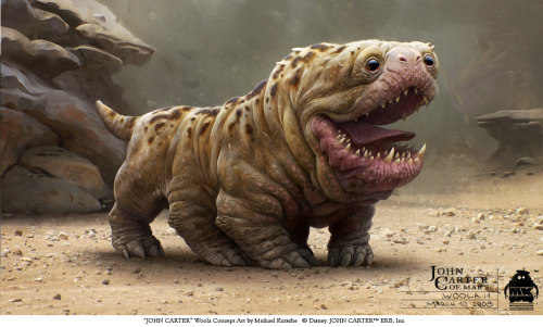 fivedaze:  John Carter Concept Art  Ahhhhh! (In a good way.) What a cutie-pie.