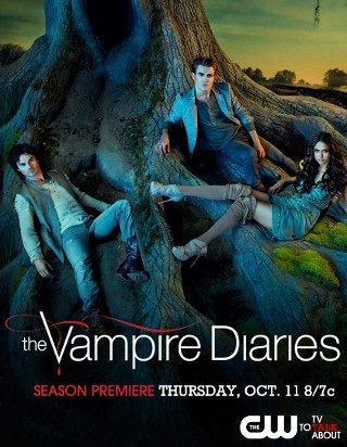 "I am watching The Vampire Diaries                   ""The New Deal, aka the Yay For A Little Damon & Elena Kissy episode.  :)""                                            204 others are also watching                       The Vampire Diaries on GetGlue.com"