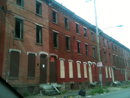 Almost an entire block of abandoned boarded up rowhomes in North Philly around 23rd and Oxford.  It's easy to forget that areas like this exist in Philly, and they must not be forgotten if our city is ever to reach its true potential.