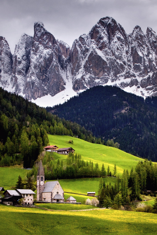 Church of St. Magdalena in the Val di Funes, Italy.