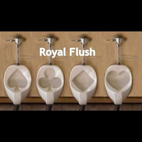 #royalflush #urinal #restroom (Taken with Instagram)