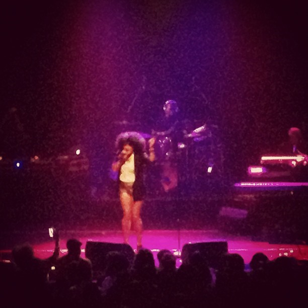 Marsha Ambrosius live on stage (Taken with Instagram at Gramercy Theatre)