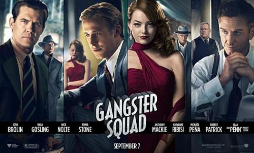 "The new movie poster for the upcoming film ""Gangster Squad"" starring Sean Penn, Ryan Gosling, Josh Brolin and Emma Stone. Click the pic to watch the official trailer."