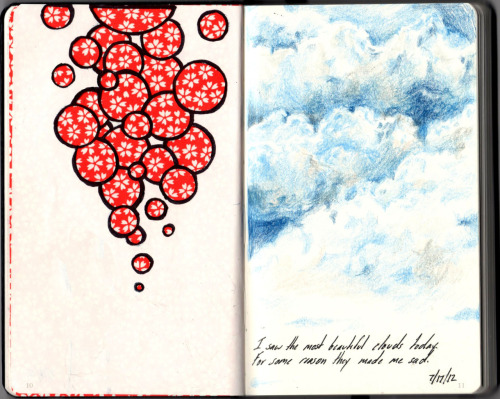 RISD summer sketchbook assignment - page six
