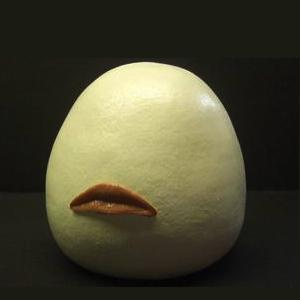 It may be easier and cheaper just to kiss an actual egg. lickystickypickywe:  Meet Kissenger version 2.0, an artificial mouth designed to transfer a kiss in real-time via the Internet. It works by plugging into a USB port and when you kiss the device's lips, pressure sensors and actuators replicate the sensation on the other Kissenger, and vice versa. Even though the Internet has made it easier for couples to communicate with each other, long-distance relationships are still difficult, but an ongoing project from Lovotics could soon break down the physical barrier that exists between separated lovers. After all, who, at the end of a video chat, hasn't longed for an almost featureless face the size and shape of an Ostrich egg to smooch with before saying goodnight?