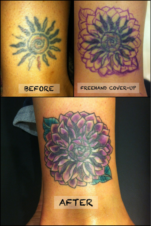 Before — Freehand - After