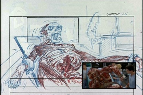 "Storyboard detailing a laboratory scene from the 2000 Paul Verhoeven film ""Hollow Man"" starring Kevin Bacon and Elisabeth Shue. Click the pic for a scene from the movie."