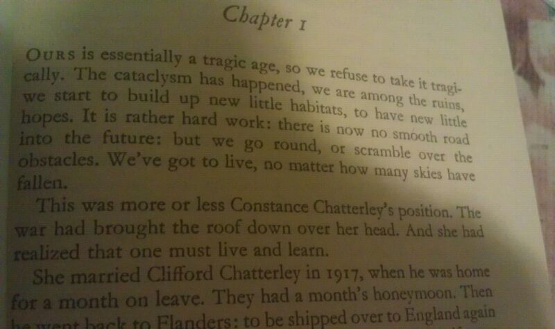 Opening paragraph of Lady Chatterley's Lover