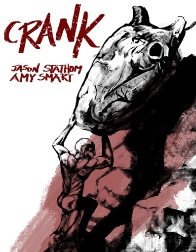 "Polish movie poster for the 2006 film ""Crank"" starring Jason Statham. Click the pic to watch a scene from the movie."