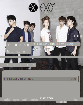 EXO-M Winamp Skin! Download Here~
