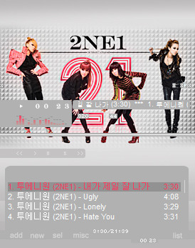 2NE1 Winamp Skin! Download Here~