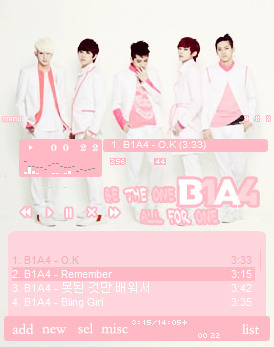 B1A4 Winamp Skin! Download Here~