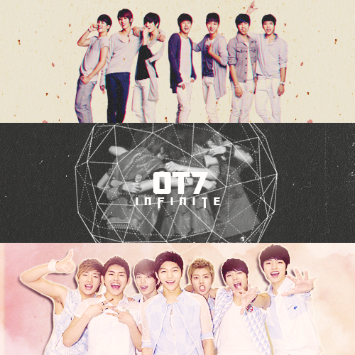 """The charm of INFINITE is that each of the seven members have their own clear and unique tastes. But we're also like a combined set of presents. If you fall for one member, we're sure you'll fall for the rest of us. It'd be so nice if fans fought over who they liked more. If we continue to think preciously of our fans and work hard to improve ourselves, maybe someday people will remember us."""