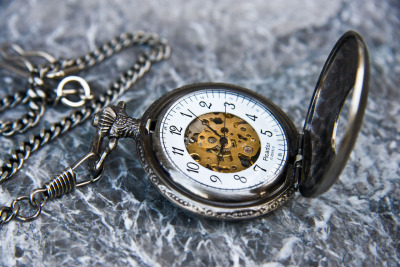 Pocket watch acquired from my trip to London. Street vendors have the most excellent finds!