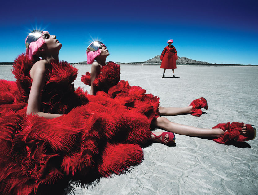 Fierce Creatures - W by Patrick Demarchelier, August 2012 I wasn't super into them on the runway, but these McQueen gowns are translating so beautifully into editorials!