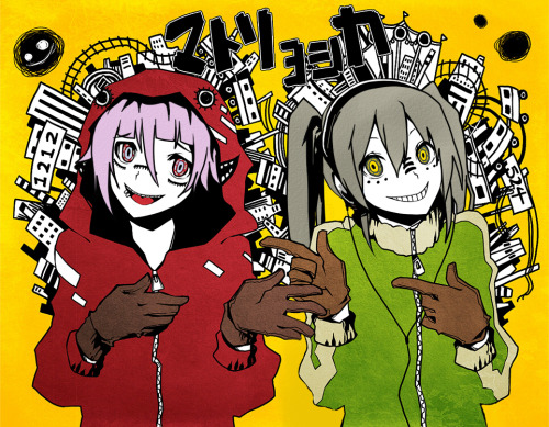 animexgamer88:  Maka and Crona matryoshka style!!!