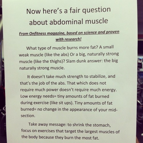 soundlyawake:  Here's your health & science tidbit of the day. (Taken with Instagram)