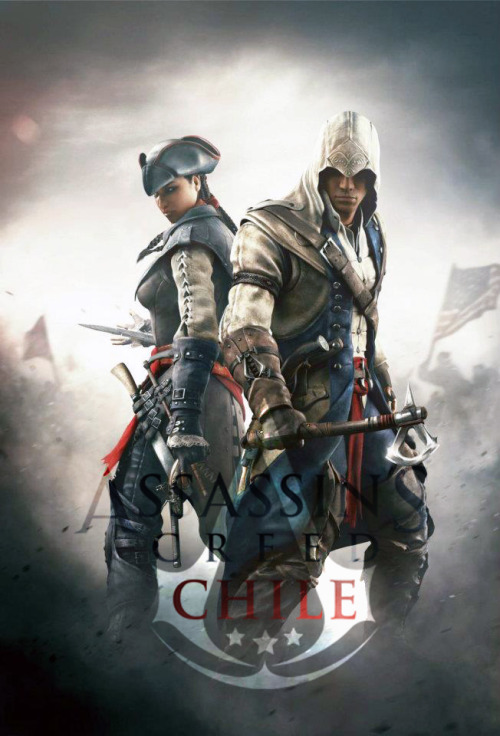 assassinscreedchile:  Aveline and Connor from Assassin's Creed IIIMore info http://www.facebook.com/AssassinsCreedChileOficial