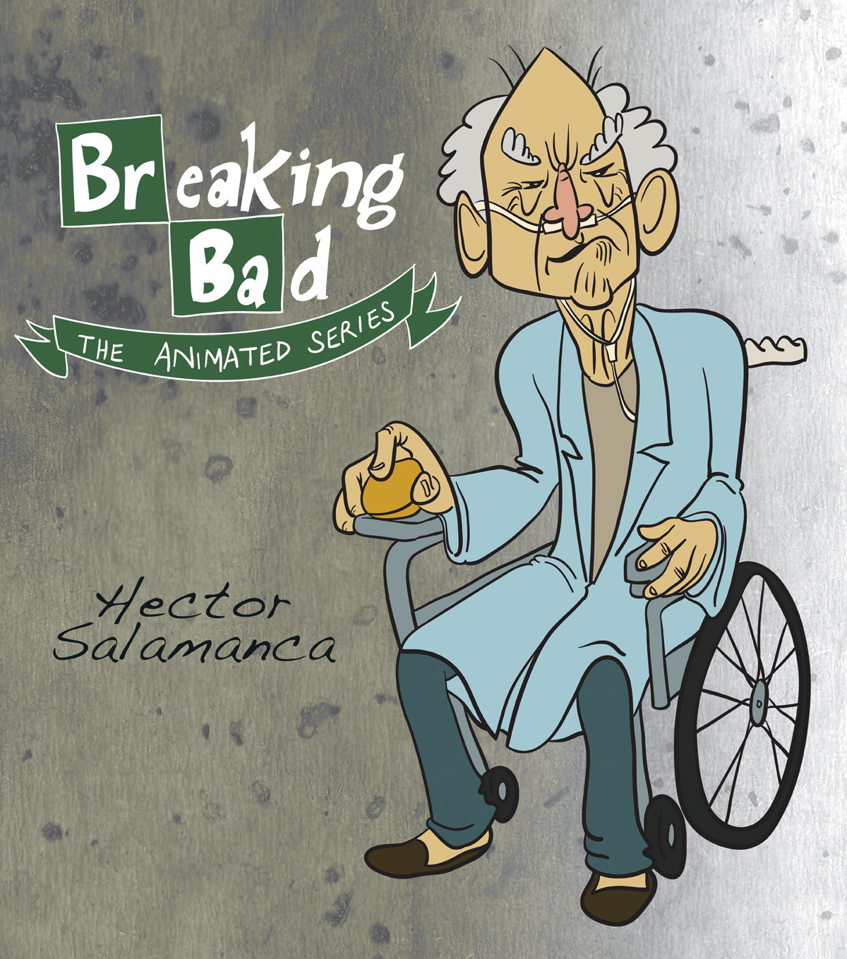 Illustrator & Photoshop / Breaking Bad: The Animated Series - Hector Salamanca.  Heisenberg on deck.