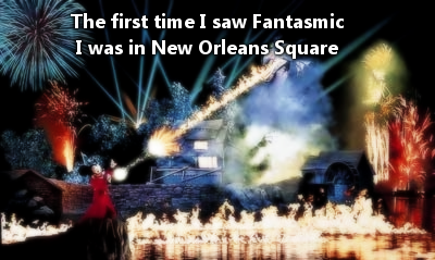 """The first time I saw Fantasmic, I was fourteen years old. It was the first night of my trip and I didn't realize it was going to happen. My family and I were eating in New Orleans square and all of a sudden there were lights and music and an ominous happy feeling. Everyone was smiling. It is probably my favorite moment of my life so far. I cried."" - Submitted by Anonymous"