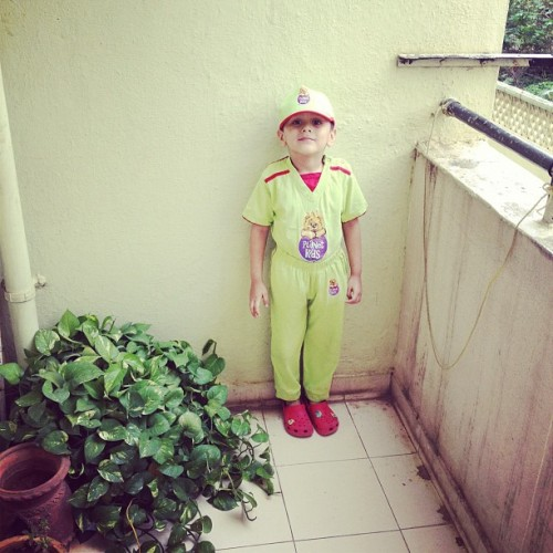Ani ready for school #ani #instagram #igdaily  (Taken with Instagram)