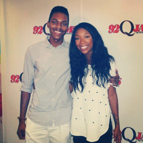 gojeaux:  @4everBrandy and I! #brandy #contest #winner #twoeleven  (Taken with Instagram)
