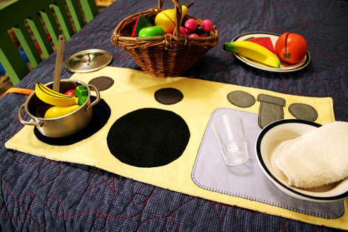 Roll-up Kitchen Playmat by verymom on Flickr.