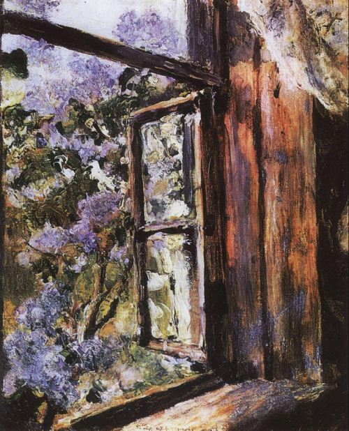 cavetocanvas:  Valentin Serov, Open Window, Lilacs, 1886