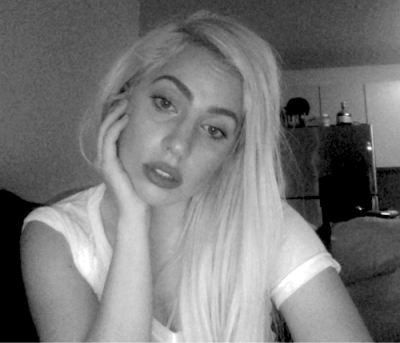 "gagaroyale:  Mother Monster updated her littlemonsters.com account and posted this new photo with the caption ""HOME ALONE, starring me missing monsters""."