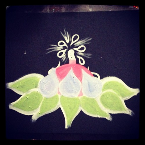 klairerussell:  #beginning #painting #lotus #flower #fantasy #garden #female #woman #instabeauty #instaflower #illustration #igers  #Wale #mmg #maybach #music  (Taken with Instagram)