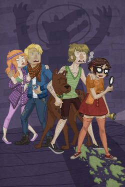 kaykedrawsthings:  Jinkies!  One of my favorite pieces from Kayla Miller…..if CN were ever to do a series of Scooby and the gang based off this, this song would be the perfect opening theme: