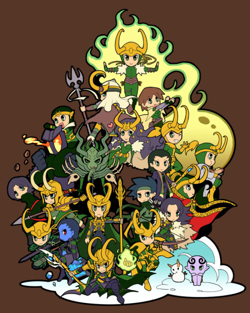 shirodemon:  :Marvel Villains Design Contest: We Are Loki by *zaionic