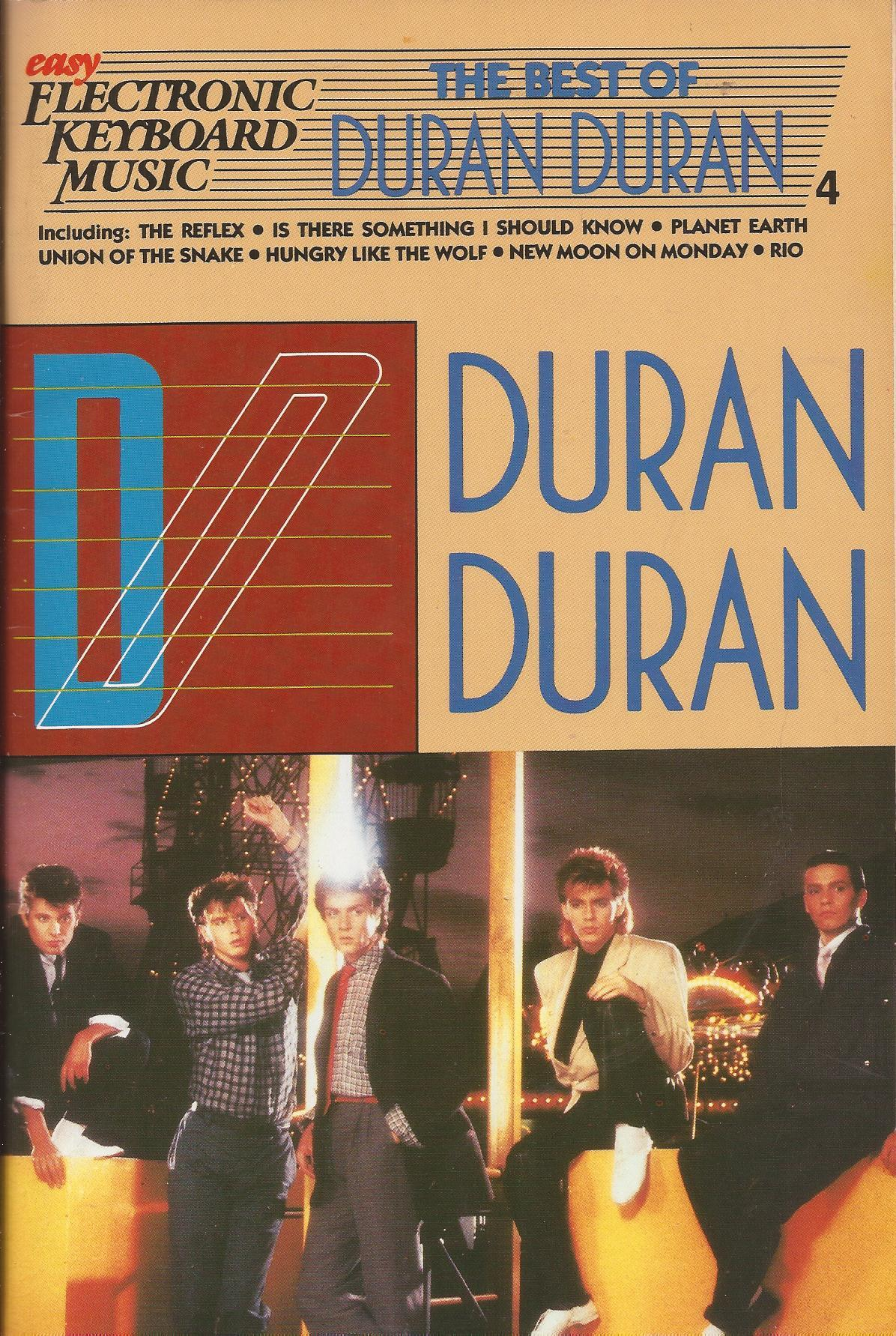 Duran Duran keyboard sheet music book