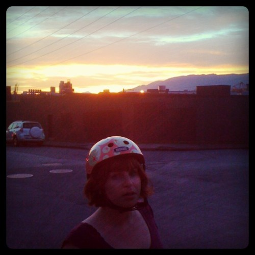 deep-cave:  Emily feat. sunset and chicken rendering aroma (Taken with Instagram)