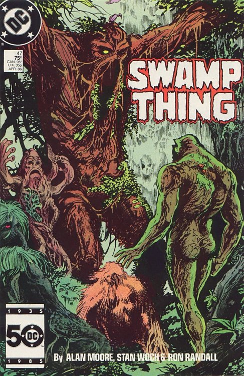 Swamp Thing #47, April 1986, cover by Stephen R. Bissette and John Totleben
