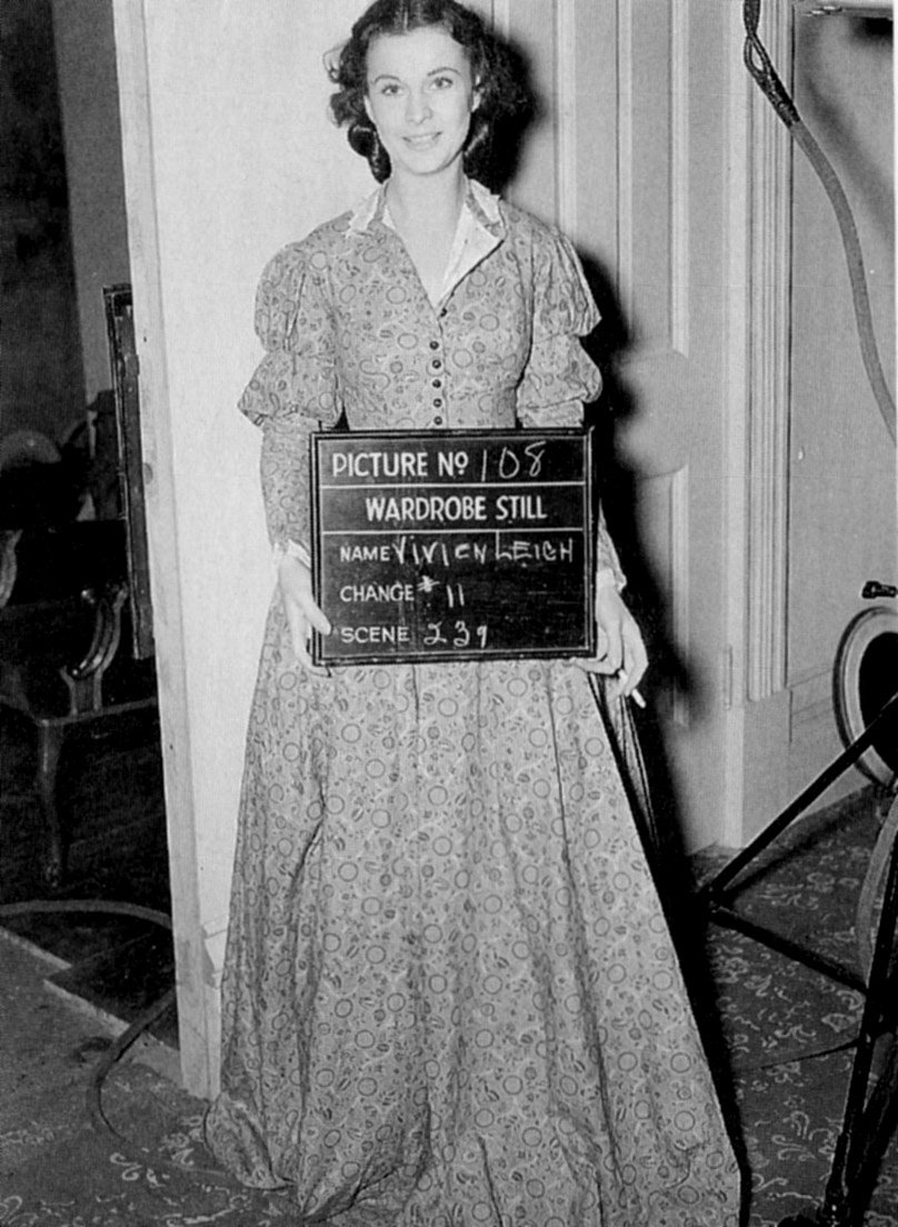 Vivien Leigh on the set of Gone with the Wind in 1939