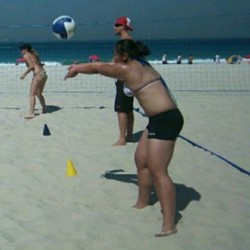 My passion led me to an experience of a lifetime! Playing beach volleyball on the sands of Brasil:) I didn't want to use a filter b/c I love that natural tan lol #tbt #volleyball #beachvolleyball #brazil  (Taken with Instagram)