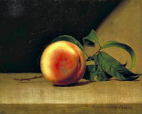 stilllifequickheart:  Raphaelle Peale Still Life with Peach 1822