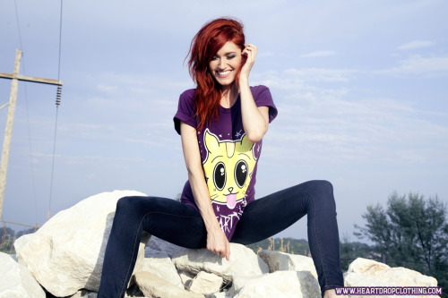 heartdropclothing:   Heart Drop Kitty Tee - Now Available On www.HeartDropClothing.com Reblog Your Hearts Out!