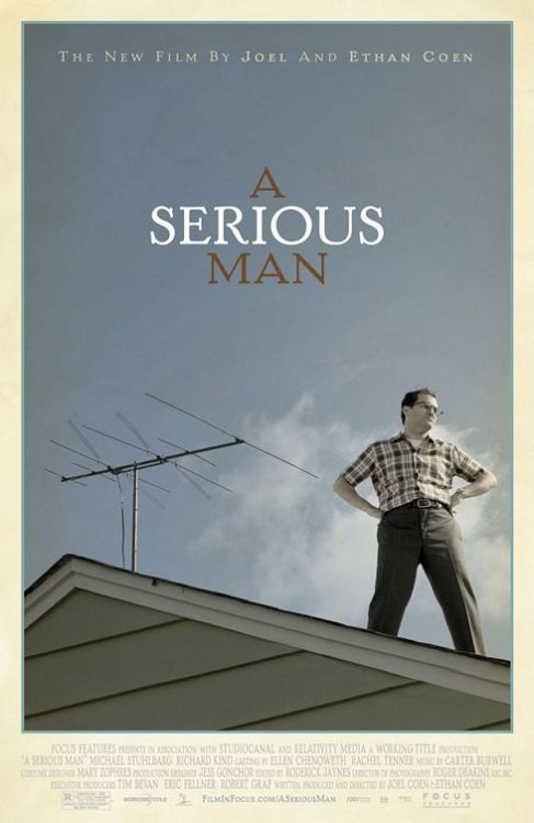 A SERIOUS MAN ***** 2010, dir. Joel & Ethan Coen, Blu-ray Second viewing. Absolutely brilliant. The Coens' best movie gets my highest rating.