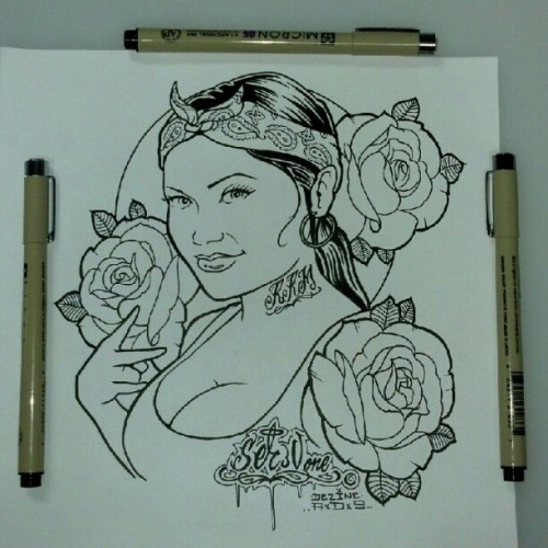 Red Rose Mafia #redrosemafia #drawing #sketck #tattoo #illustration #Ser_v1 #dezinead9 #goldentouchtattoo (Taken with Instagram)