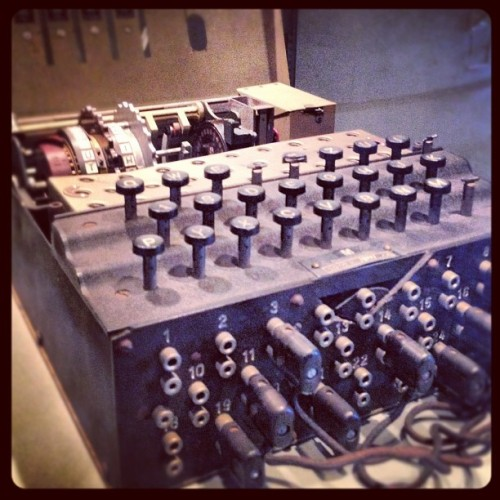 Enigma Machine (Taken with Instagram)